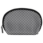 Sports Racing Chess Squares Black White Accessory Pouches (Large)  Front