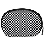 Sports Racing Chess Squares Black White Accessory Pouches (Large)  Back