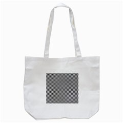 Sports Racing Chess Squares Black White Tote Bag (white)