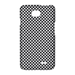 Sports Racing Chess Squares Black White LG Optimus L70