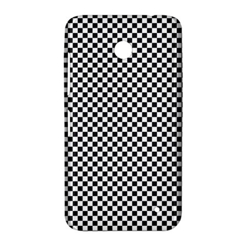 Sports Racing Chess Squares Black White Nokia Lumia 630