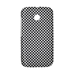 Sports Racing Chess Squares Black White Motorola Moto E