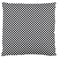 Sports Racing Chess Squares Black White Large Flano Cushion Case (two Sides)