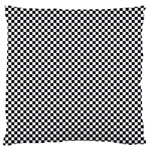 Sports Racing Chess Squares Black White Large Flano Cushion Case (Two Sides) Front