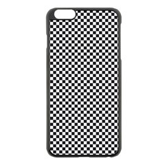 Sports Racing Chess Squares Black White Apple Iphone 6 Plus/6s Plus Black Enamel Case