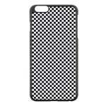 Sports Racing Chess Squares Black White Apple iPhone 6 Plus/6S Plus Black Enamel Case Front