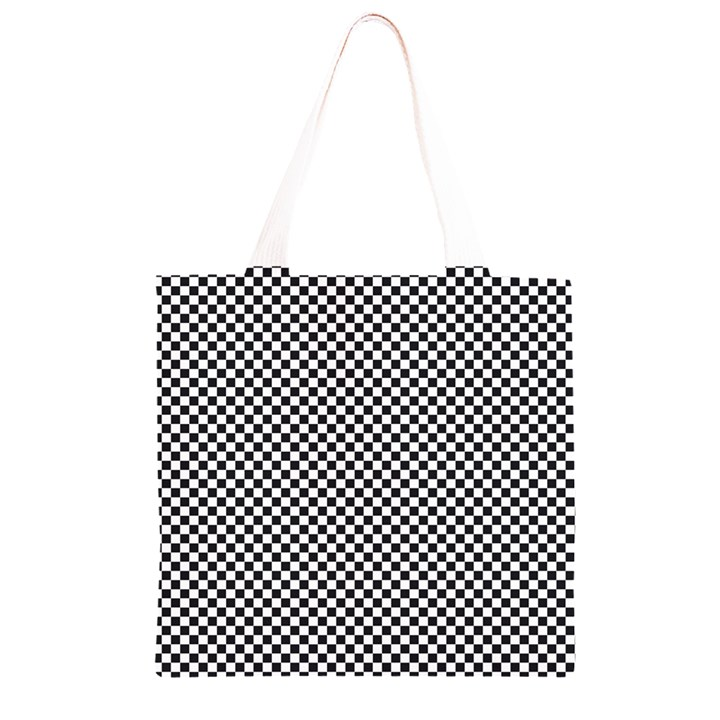Sports Racing Chess Squares Black White Grocery Light Tote Bag