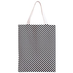 Sports Racing Chess Squares Black White Classic Light Tote Bag