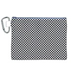 Sports Racing Chess Squares Black White Canvas Cosmetic Bag (XL) Front