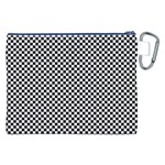 Sports Racing Chess Squares Black White Canvas Cosmetic Bag (XXL) Back