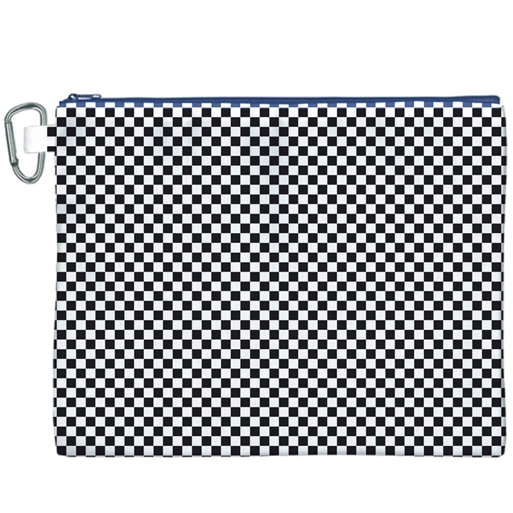 Sports Racing Chess Squares Black White Canvas Cosmetic Bag (XXXL)