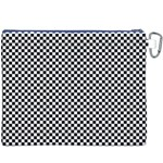 Sports Racing Chess Squares Black White Canvas Cosmetic Bag (XXXL) Back