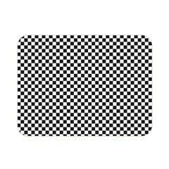 Sports Racing Chess Squares Black White Double Sided Flano Blanket (Mini)