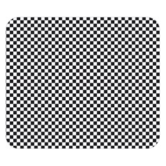 Sports Racing Chess Squares Black White Double Sided Flano Blanket (Small)