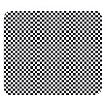 Sports Racing Chess Squares Black White Double Sided Flano Blanket (Small)  50 x40 Blanket Front