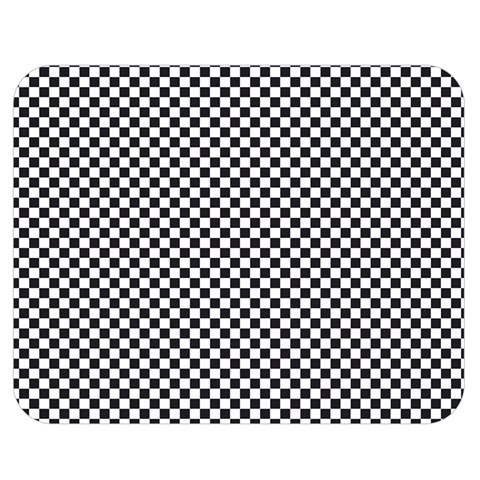 Sports Racing Chess Squares Black White Double Sided Flano Blanket (Medium)