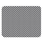 Sports Racing Chess Squares Black White Double Sided Flano Blanket (Large)  80 x60 Blanket Front