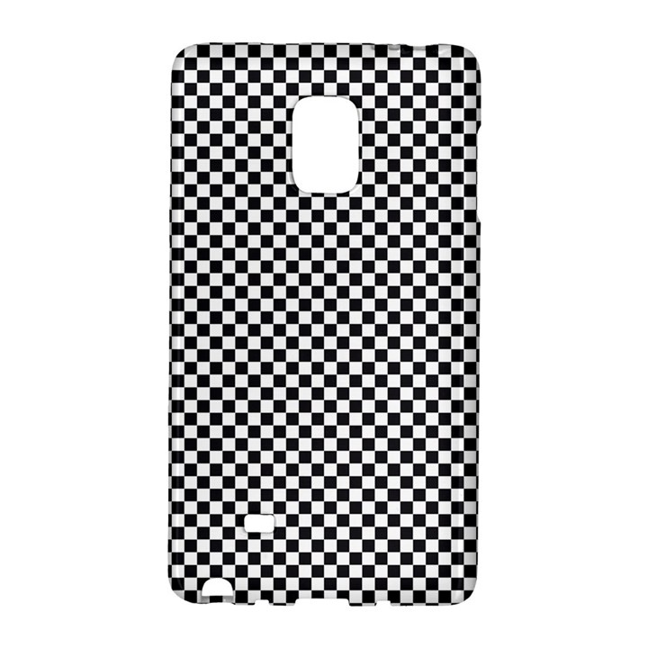 Sports Racing Chess Squares Black White Galaxy Note Edge