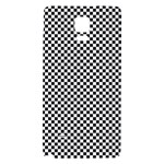 Sports Racing Chess Squares Black White Galaxy Note 4 Back Case Front