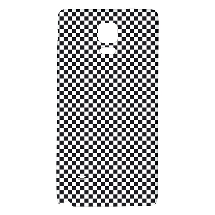 Sports Racing Chess Squares Black White Galaxy Note 4 Back Case