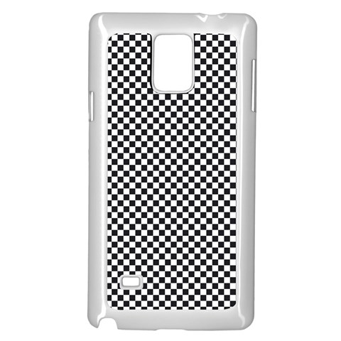 Sports Racing Chess Squares Black White Samsung Galaxy Note 4 Case (White)
