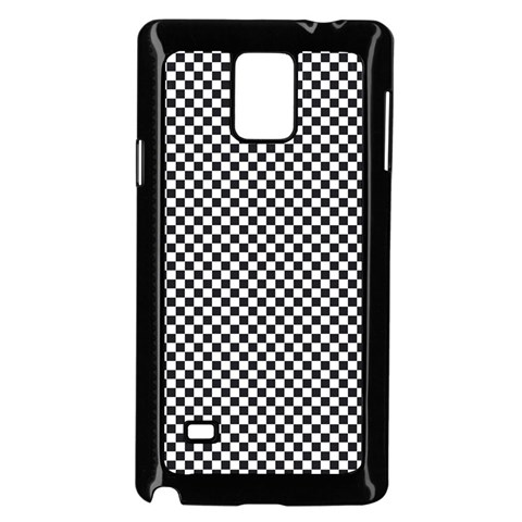 Sports Racing Chess Squares Black White Samsung Galaxy Note 4 Case (Black)