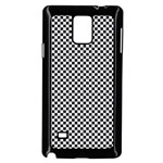 Sports Racing Chess Squares Black White Samsung Galaxy Note 4 Case (Black) Front