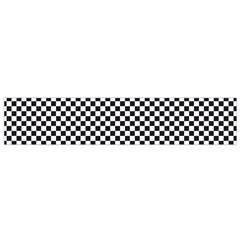 Sports Racing Chess Squares Black White Flano Scarf (small)