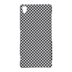 Sports Racing Chess Squares Black White Sony Xperia Z3