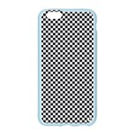 Sports Racing Chess Squares Black White Apple Seamless iPhone 6/6S Case (Color) Front