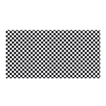 Sports Racing Chess Squares Black White Satin Wrap Front