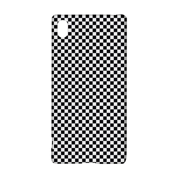 Sports Racing Chess Squares Black White Sony Xperia Z3+