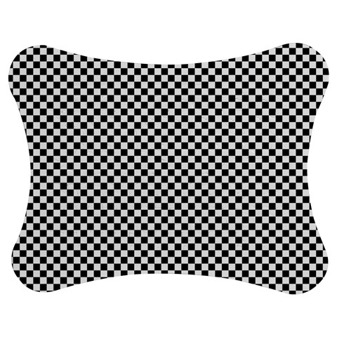 Sports Racing Chess Squares Black White Jigsaw Puzzle Photo Stand (Bow)