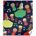 Belly Dance Hafla Doumbek  Canvas 8  x 10  10.02 x8 Canvas - 1
