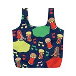 Belly Dance Hafla Doumbek  Full Print Recycle Bags (M)  Front