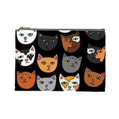 Cats Cosmetic Bag (Large)