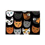 Cats Cosmetic Bag (Large)  Front