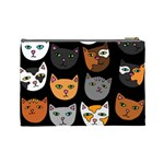 Cats Cosmetic Bag (Large)  Back