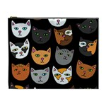 Cats Cosmetic Bag (XL) Front