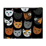 Cats Cosmetic Bag (XL) Back