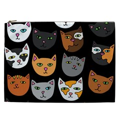 Cats Cosmetic Bag (XXL)