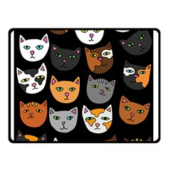 Cats Double Sided Fleece Blanket (Small)