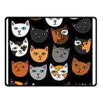 Cats Double Sided Fleece Blanket (Small)  50 x40 Blanket Back