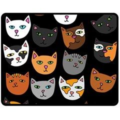 Cats Double Sided Fleece Blanket (Medium)