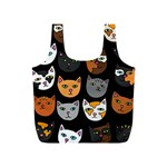 Cats Full Print Recycle Bags (S)  Front