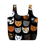 Cats Full Print Recycle Bags (M)  Front