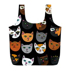 Cats Full Print Recycle Bags (L)