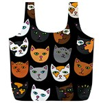 Cats Full Print Recycle Bags (L)  Front