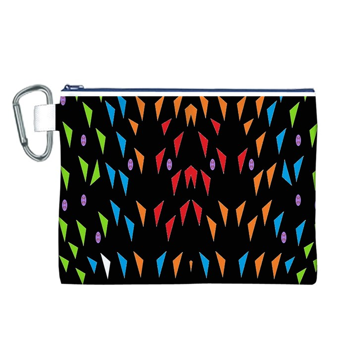 ;; Canvas Cosmetic Bag (L)