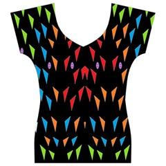 ;; Women s V-Neck Cap Sleeve Top